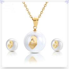 Joyería de acero inoxidable accesorios de moda joyería de moda conjunto (js0198)