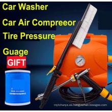 Nueva llegada 3 en 1 Lavadora de coches de alta presión 12V Máquina de lavado de coches Lavadora de coches con compresor de aire del coche Bomba de coche del coche inflador