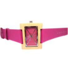 Hlw086 OEM montre en bois des hommes et des femmes montre en bambou de haute qualité montre-bracelet