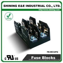 FB-M032PQ gleich Busmann 600V 2 Pole Din Schiene 30 Ampere Sicherung Basis