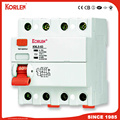 Korlen New Type Residual Current Circuit Breaker 30mA 100mA 300mA 500mA RCCB with Ce CB Semko Sirim