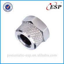 RM 5/3 pneumatic metal fitting for plastic tube locking nut type