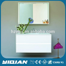 Hangzhou White High Gloss Hanging Mirror Lighted MDF Modern Italian Bath Cabinets