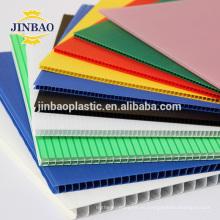 JINBAO pp colorido corrugado techos de paneles huecos 5mm