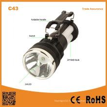 C43 Batterie portative à l'acide au plomb portable rechargeant la lampe de camping solaire