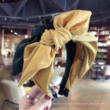 wholesale Fashion Designer Silk Bow Hair Accessories Cute Girl Hair band Women Headband