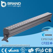 RGB LED Wall Washer luz à prova d'água 24V LED Barras de luz 72W