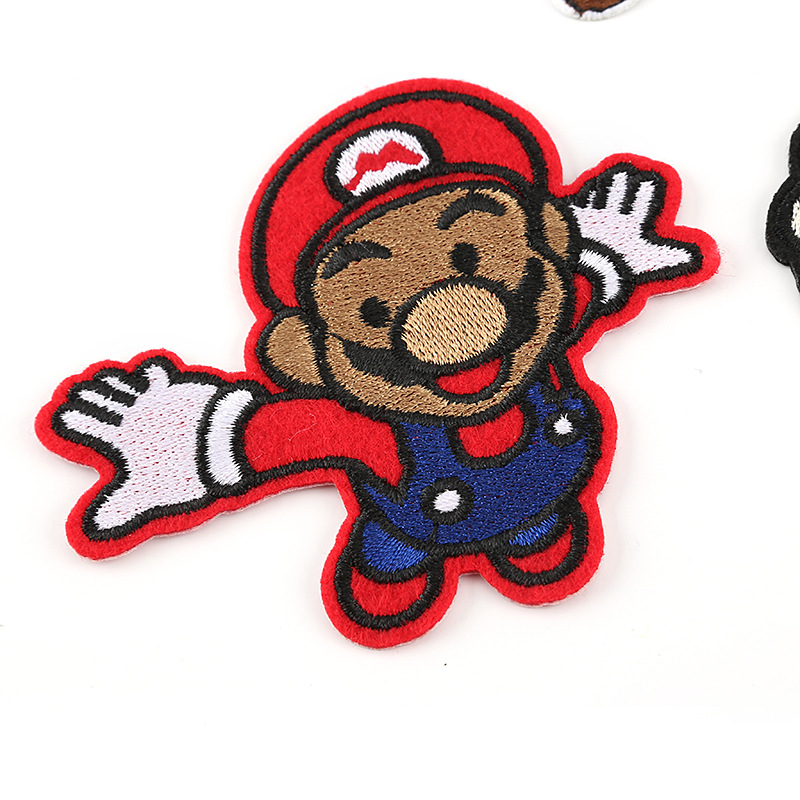 Embroidery With Mario Toy Accessories