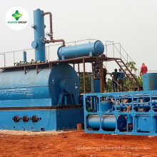 machine de distillation d'huile usée avec 8 brevets et 85 ~ 90% rendement d'huile