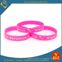 Bracelet promotionnel en caoutchouc de silicone imprimé en gros (LN-034)
