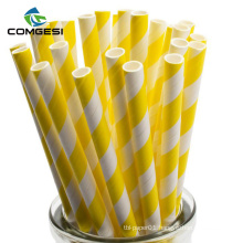 Factory price Colored Black White paper Wheat Drinking biodegradable paper straws with high quality