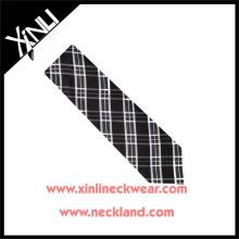 Trockenreinigung Nur 100% Handarbeit Seidenstoff Krawatte Plaid