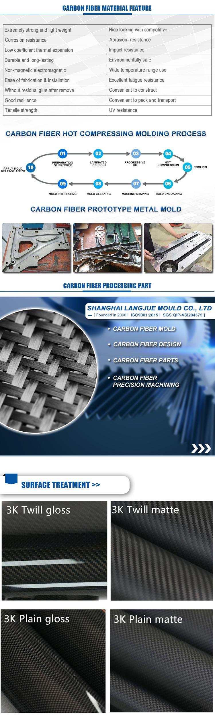 One piece MOQ Carbon Fiber Parts Clothes Carbon Fibre