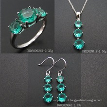Fashion Green Spinel Jewellery Set (S3317)