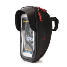 Front Top Tube waterproof Phone Touchscreen hard shell bike bag, eva bike case front frame bag