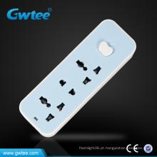 Corrente de corrente alternada universal múltiplo tomada tomada individual tira de alimentação do interruptor (GT-V01)