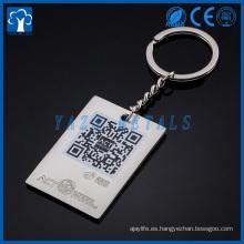 llavero personalizado cadena de llavero de metal para la promoción