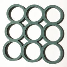 círculo círculo forma de silicona olla estera