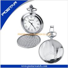 Vintage liso face relógio de bolso estilo antigo para unisex