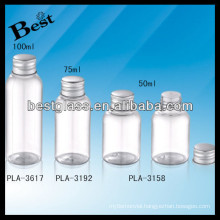 clear round lotion bottle 100 ml bottles with silver cap