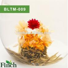 Bola de té floreciente con sabor a flor natural hecha a mano del arte del té
