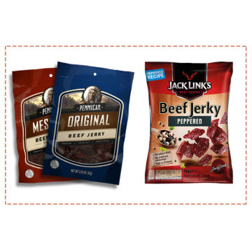 Custom 3 Side Seal Pouch Beef Jerky Bag