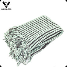 2016 Fashion 100%Acrylic Woven Throw Blanket with Self-Fringes