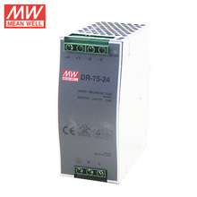 MEANWELL 10w to 960W din rail series 75W DIN Rail Power Supply 24Vdc with UL cUL CB CE approved DR-75-24