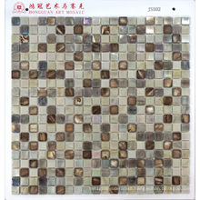 Glass Mosaic with Shell Mosaic