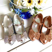 baby girls party shoe kids shinning shoes for wedding Zircon diamond shose gold silver color