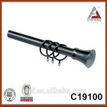 C19100 cortina de níquel negro finial
