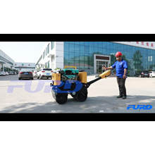 800kg Self-propelled Vibratory Road Roller With 9HP Water Cooling Diesel