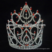 wholesale China red crystal star plastic princess tiara crown for girls manufacturer