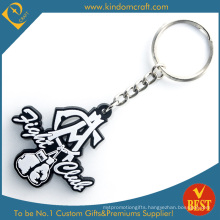 China Customized Die Casting 2 D PVC Key Ring with Special Design in High Quality