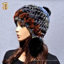 Новая корейская женская мода теплые зимние женщины кролика меховой шляпе