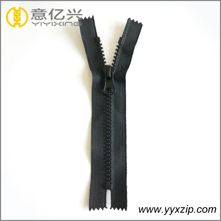 Non lock gold coated teeth plastic zipper