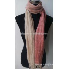 Bufanda de lino del algodón de la raya de la manera