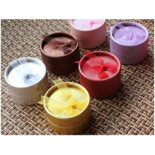 Small Round Paper Box with Bowknot Jewelry Box