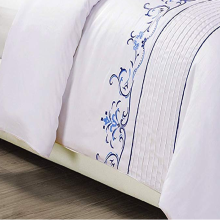 Cotton Sateen thêu Duvet Cover