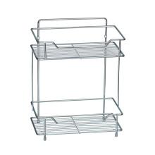 White Bathroom storage Shelf Unit with 2 Tier Shelves