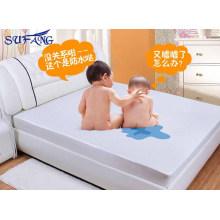 Hotel de precio barato Hipoalergénico Algodón Terry superficie con membrana de respaldo Respirable protector de colchón sábana ajustable