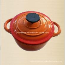 2qt Esmalte de hierro fundido Cocotte Cookware LFGB Aprobado Fábrica China