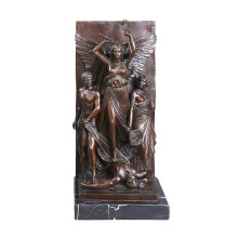 Relief Brass Statue Myth Carving Deco Bronze Sculpture Tpy-031