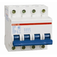 Мин выключатель с автомат защити цепи dz47-4П