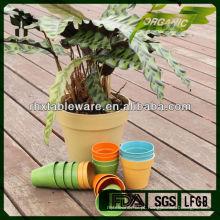 Planta de fibra de bambu em pó biodegaradle pote de flor