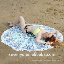 150cm Reactive Print Mandala Beach Yoga Towel Round Bed Sheet Tapestry Tablecloth BT-557 China Supplier