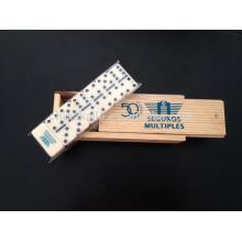 Mini-Domino-Set in Holzkiste