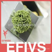 Embalaje de la caja de joyería delicada verde oscuro