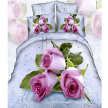 2016 flor impressa 4pcs conjunto de folha de cama