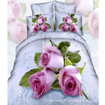 2016 Blume gedruckt 4PCS Bettlaken Set